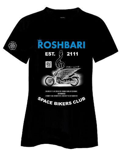 ROSHBARI space biker t-shirt